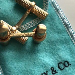 Vintage Tiffany & Co. Gold Bar Cufflinks. 14K